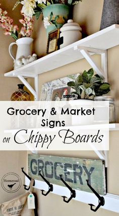 A chippy grocery sign with a transfer story www.homeroad.net