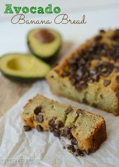 Avocado Banana Bread via @Crazy for Crust/ // #avocado #banana #bananabread