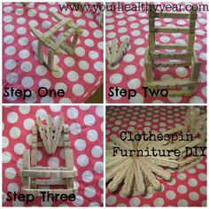 Clothespin Crafts – Easy and Cheap Furniture!