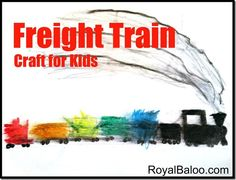 Freight Train Art Activity  Donald Crews–Virtual Book Club for Kids