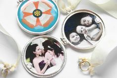 Beautiful DIY lockets - one for me- two for my girls :)