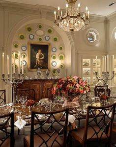 Splendor in the South. decor, wall colors, dining rooms, wood patterns, dine room, plate, formal dine, homes, china room