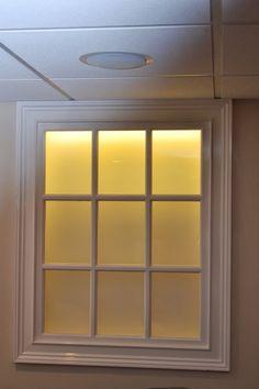 Back-lit Faux Basement Window