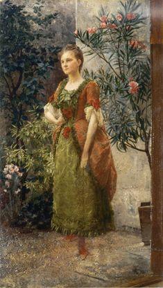 """""""Portrait of Emilie Flöge"""" (c.1893) Gustav Klimt"""