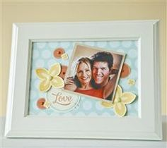 Brighten your space with this easy stamped photo art!