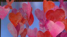 Clinton's Craft Corner: Valentine's Day Paper Garland