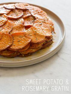 Sweet Potato and Rosemary Gratin