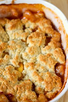 Peach Cobbler, fresh from the oven