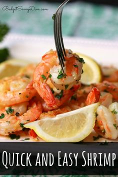 MUST Make Recipe - DONE in 10 minutes! Gluten Free and Kids Will LOVE It - Quick and Easy Shrimp Recipe #recipe #shrimp #glutenfree #budgetsavvydiva via BudgetSavvyDiva.com