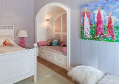 reading nook in girl