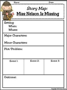 "Miss Nelson Is Missing: 125 pages of ideas, games, activities, graphic organizers, projects & printables that correlate with the book ""Miss Nelson Is Missing.""~Class Discussion Questions & Ideas~Vocabulary & Definition List~Variety of Graphic Organizers~Reading Comprehension~Writing & Drawing Activities ~2 Double Match Games~ABC Order Activity Cards~Antonyms~Foldables~Venn Diagrams ~Making Connections~Story Maps~Math~Map Skills $ #missnelson #bookactivities #foldables"