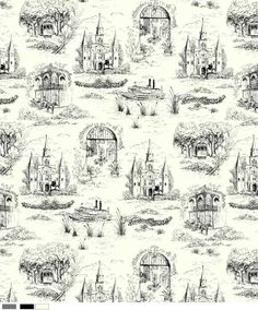 New Orleans toile fine thing, new orleans toile hazelnut, orlean toil, thing toil, art, hazelnut new orleans, french toil, decor stuff, fabric