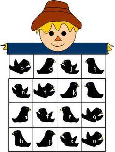 scarecrow ABC bingo