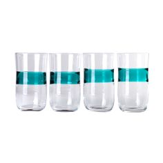 Fab.com | Mose Glass Hi-Ball Turquoise 4Pc