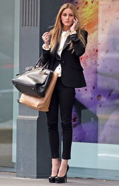 Olivia Palermo shopping in downtown New York...