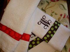 Monogrammed hand towels monogram hand, hand towels