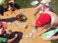stick, kid activities, craft activities, kids yard, stone painting