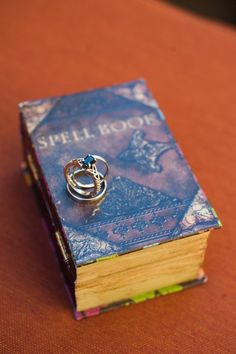 Yay! Harry Potter themed wedding and what beautiful rings!