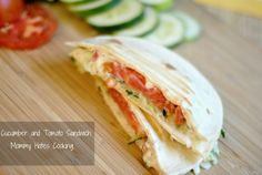 Cucumber Tomato Sandwich (great to use garden veggies!)