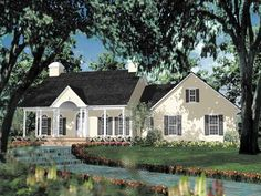 Adam - Federal House Plan with 2046 Square Feet and 3 Bedrooms from Dream Home Source | Extend MB behind nook for craft area.
