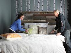 Birch Tree Bedroom - A Hatmaker Home Renovation on HGTV