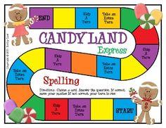 Candyland Express-Spelling FREEBIE