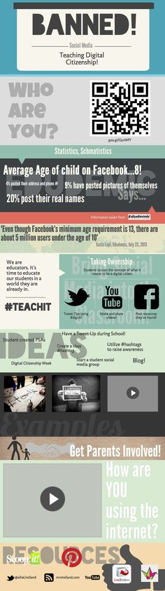 Teaching digital citizenship | #infographics made in @Piktochart