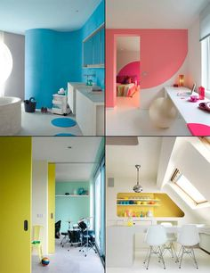 Every room a different color #color
