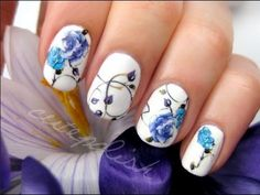 Create incredible nail art just by using temporary tattoos! :)