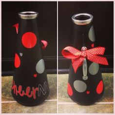 Polka Dot Megaphone, Red, Black and Silver #Cheer