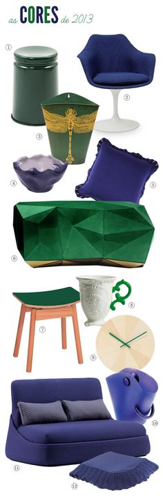 blue and green design finds #pantone #emerald #blue #decor