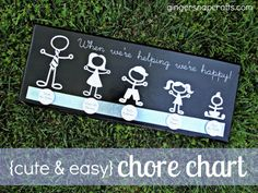 Ginger Snap Crafts: adorable chore chart {tutorial}