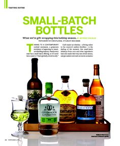 Small-Batch Bottles. VIRTUOSO LIFE Magazine.