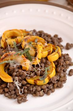 Lentils with Roasted Delicata Squash