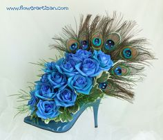 Blue Shoe Floral Arrangement -