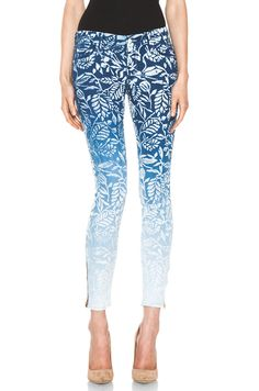 Blue dip dye jeans