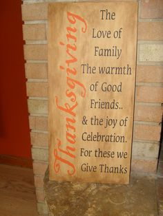 A FaLL HoLiDaY THANKSGIVING PriMiTiVe WooD SiGn HoMe Decor WaLL Hanging HaLLoWeen TuRKey Pumpkin Pie. $31.00, via Etsy.