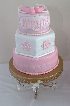 Cake at a Ballet Baby Shower #ballet #babyshower