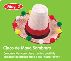 "Okay, forget the Cinco de Mayo bit, but when i was working at the Daycare we had a week themed, ""Mexico"". I wish i had known about this craft then!"