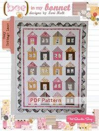 Cozy Cottage Lane Downloadable PDF Quilt PatternBee in my Bonnet