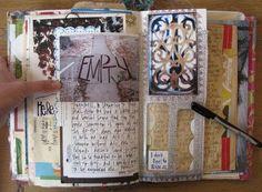 journal idea, diari, journal pages, journal art, art journals, altered books, journal inspir, scrapbook, handmade journals