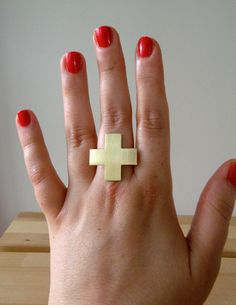Safety First  red cross sterling silver and by melaniefavreau, $75.00