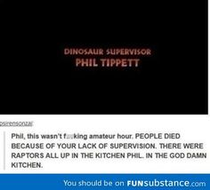 You had one job Phil