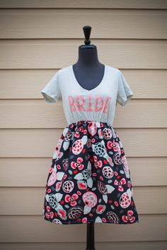 Floral and Fabulous BRIDE To Be Dress Black and by thearmorofGod, $49.00