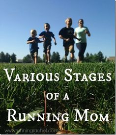 Various stages of a running mom
