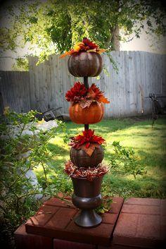 DIY Fall Decor- :Dollar store pumpkins
