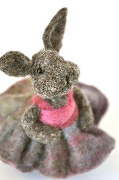 Needle felted bunny  #easter #spring #needle felted animal