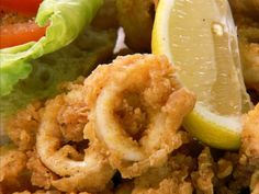 Fried Calamari with puttanesca dipping sauce from chef Chuck Hughes @CookingChannelTV.com