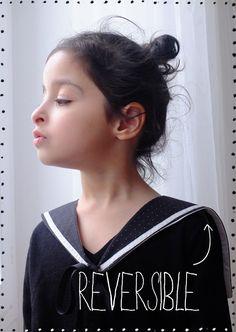 DIY Reversible Sailor Collar (use google translate)