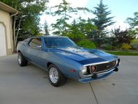 You are looking at one of the rare All American muscle cars of the 70s. This American Motors  AMX Javelin turns heads no matter where it goes! There are none to be found. It comes with a totally rebuilt 360 cid engine that has less than 1000 miles on it. The engine comes with Hooker Headers, Edelbrock manifold, Holly 4 barrel, and aluminum cast valve covers. The Hurst 4speed transmission makes it a hoot to drive. It sports a brand new paint job with detailed striping, and BF Goodrich tires th...